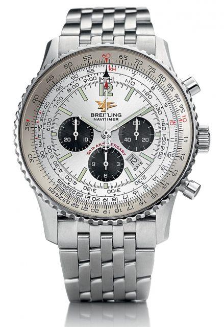 Der Breitling Navitimer ist als Jubiläumsmodell von 2002 dem Original wieder näher als die Uhren der 60er- und 70er-Jahre.