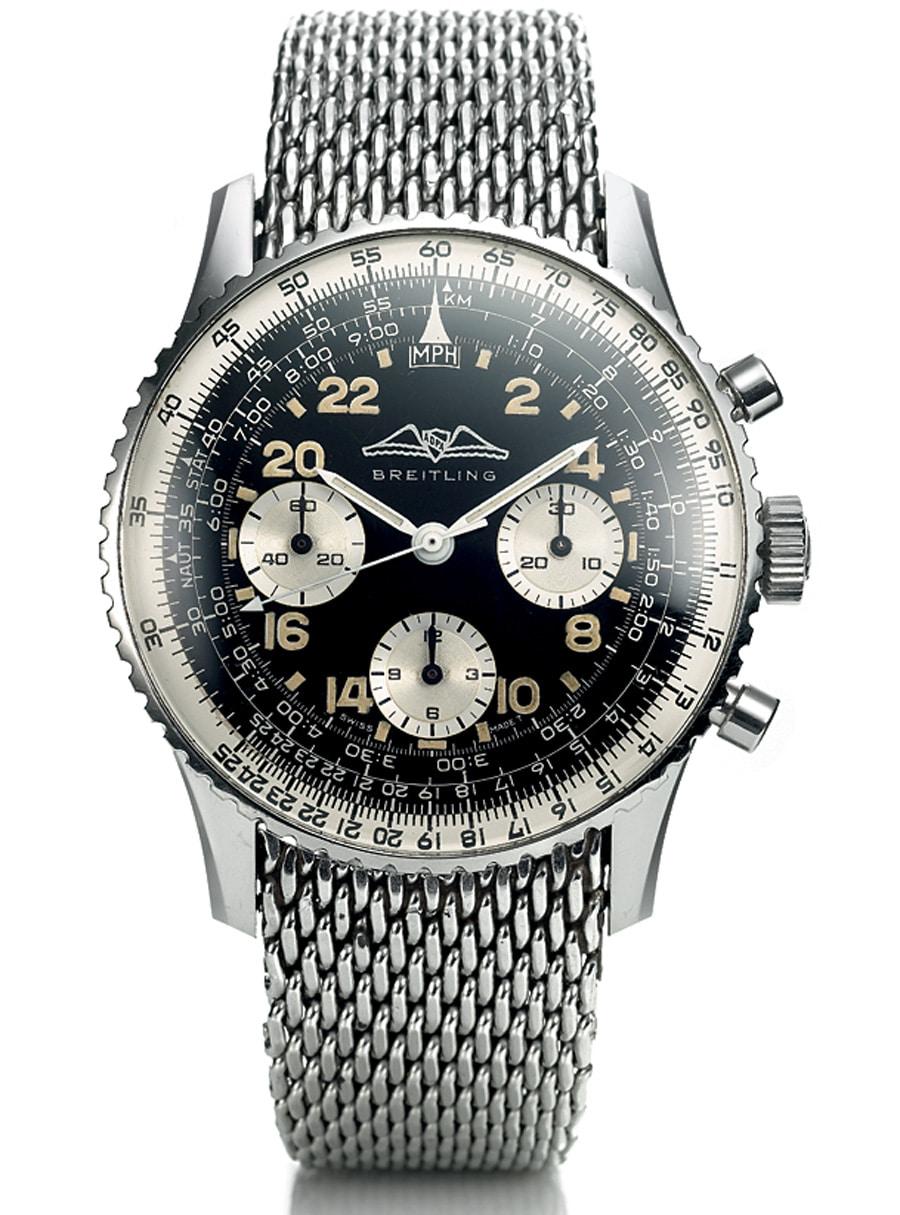 Die Formen des Breitling Navitimers Cosmonaute von 1962 erinnern noch an die 1950er-Jahre.