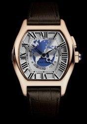 Komplexe Reiseuhr: die Tortue Weltzeit von Cartier