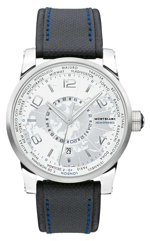 Weltzeituhr von Montblanc: die TimeWalker World-Time Northern Hemisphere...