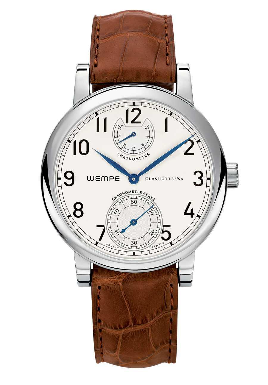Wempe Armbandchronometer ohne Limitierung braunes Band