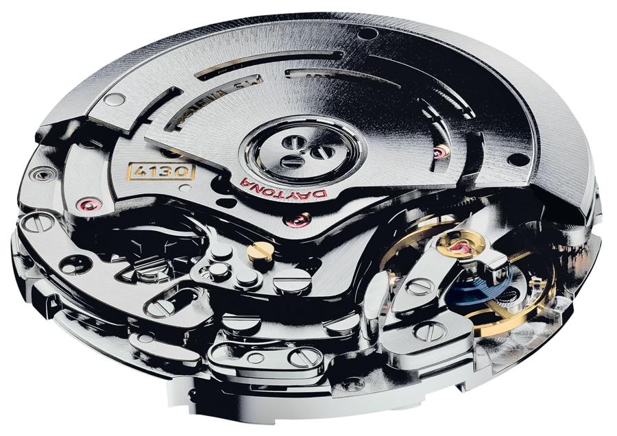 Das Chronographenkaliber 4130 wurde 2000 für die neue Daytona eingeführt