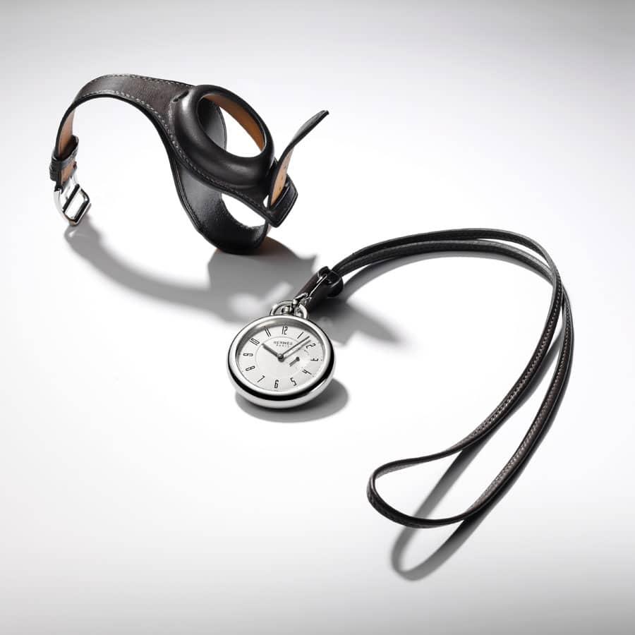 Wandelbar: das Uhrenmodell In The Pocket von Hermès