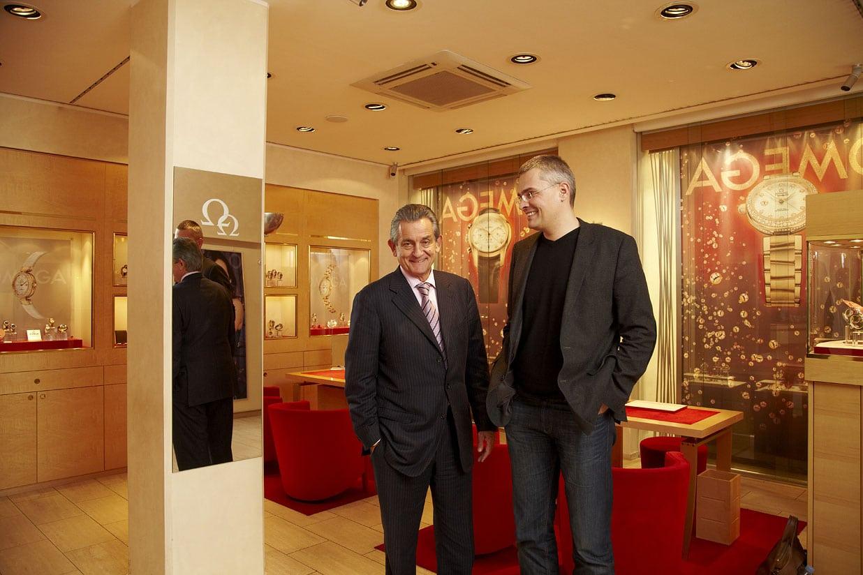 Omega-Präsident Stephen Urquhart und Chronos-Chefredakteur Rüdiger Bucher