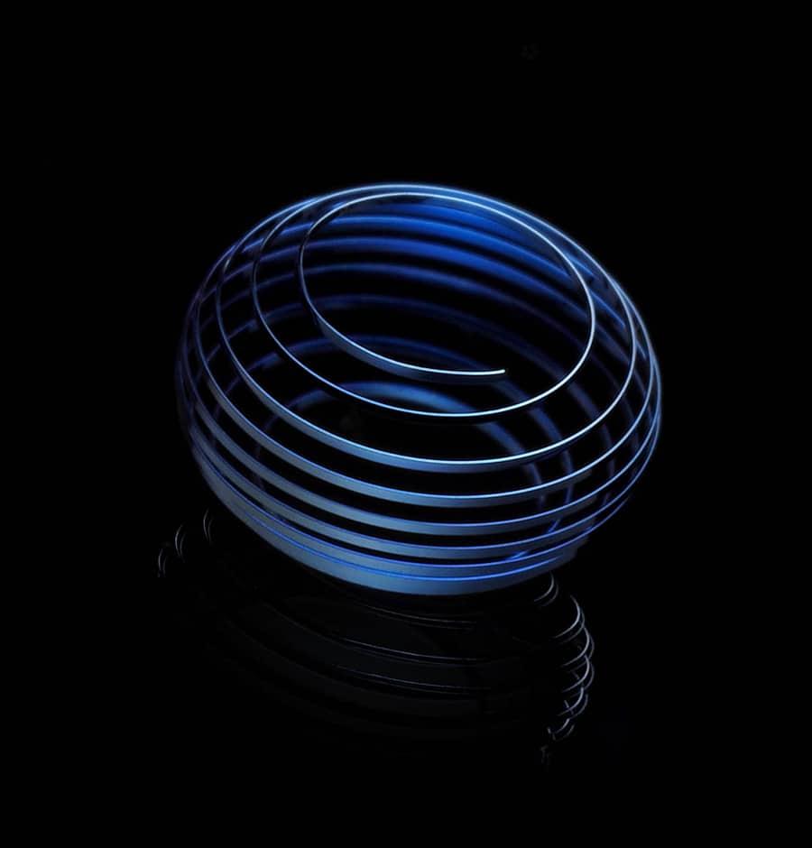 Die sphärische Spiralfeder soll eine optimale chronometrische Leistung über eine doppelte Endkurve bewirken.