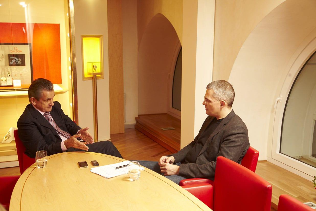 Urquhart und Bucher beim Chronos-Interview