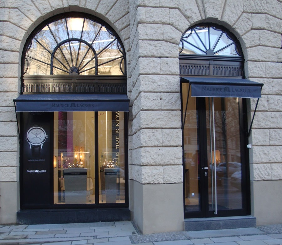 Maurice lacroix neuer flagship store in der berliner for Maurice boutique