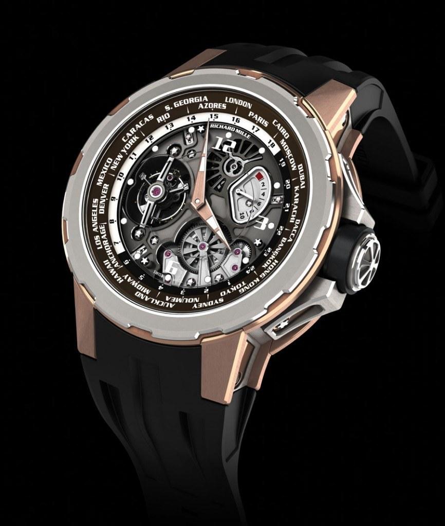Weltzeituhr von Richard Mille: Tourbillon RM 58-01 World Timer Jean Todt Limited Edition
