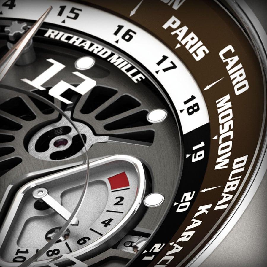 Richard Mille Tourbillon RM 58-01 World Timer Jean Todt Limited Edition Close Up