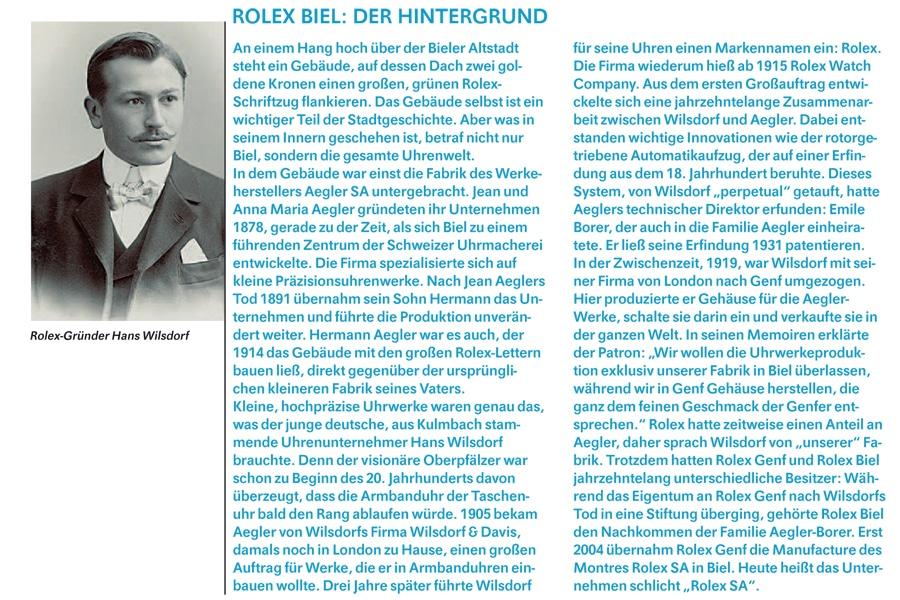 Rolex Biel - Hintergrund
