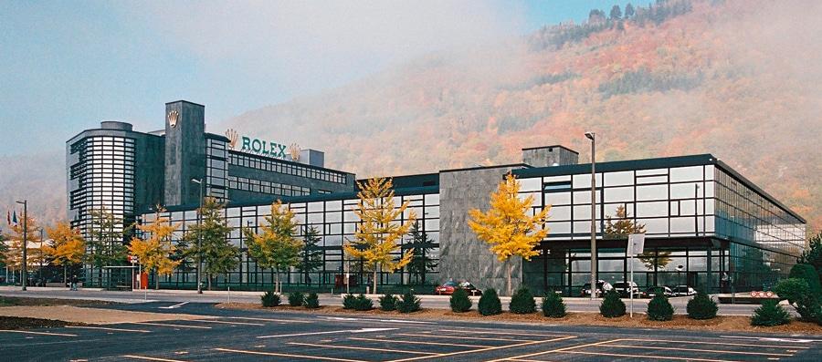 Rolex V: Eines von vier großen Gebäuden im Bieler Rolex-Komplex