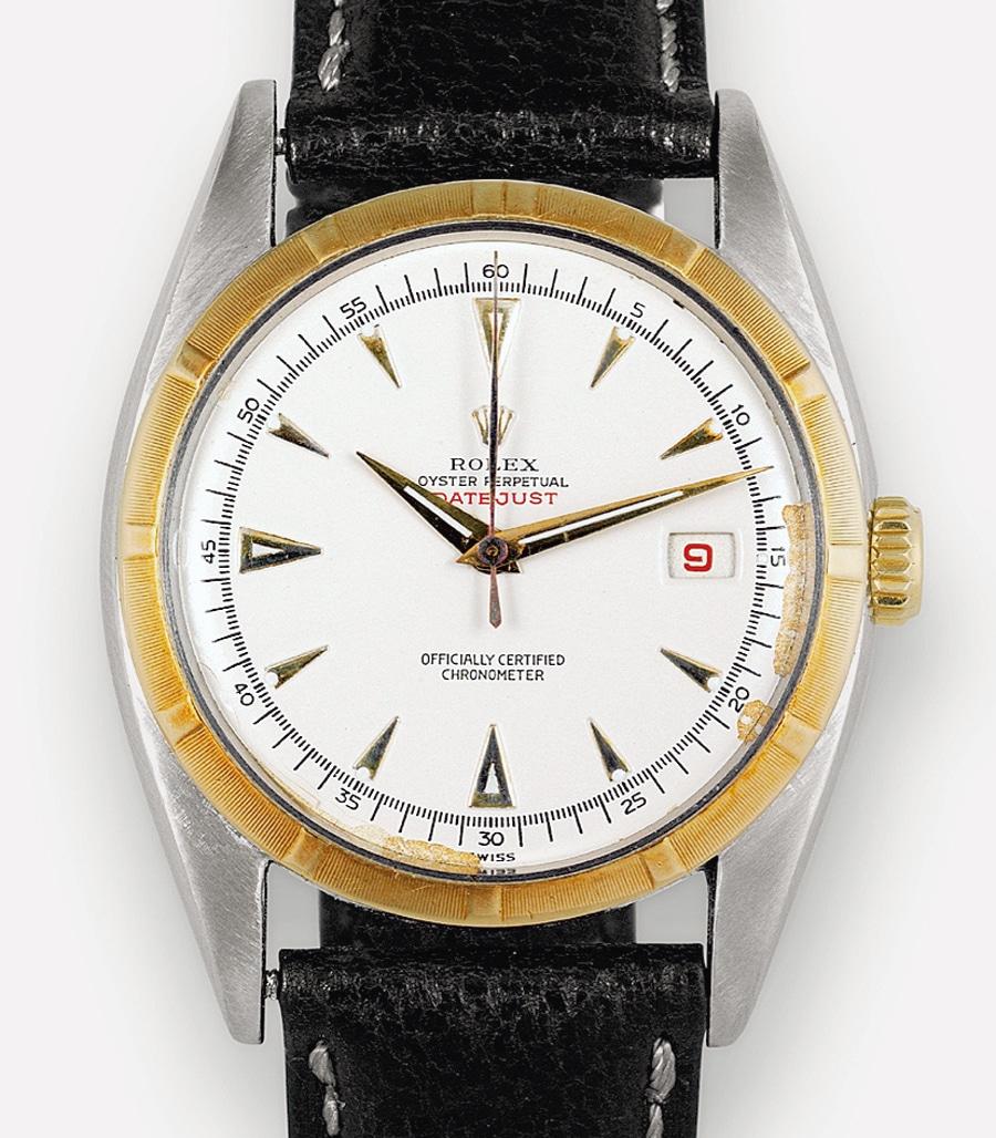 Rolex Oyster Perpetual Datejust von 1950 in Edelstahl und Gold: Dieser Materialmix wurde später typisch für Rolex.