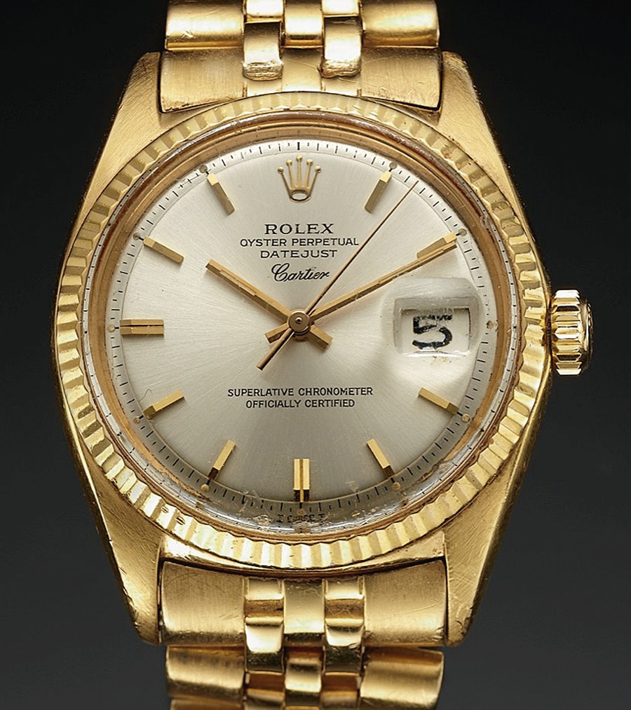Rolex Oyster Perpetual Datejust sold by Cartier 1967