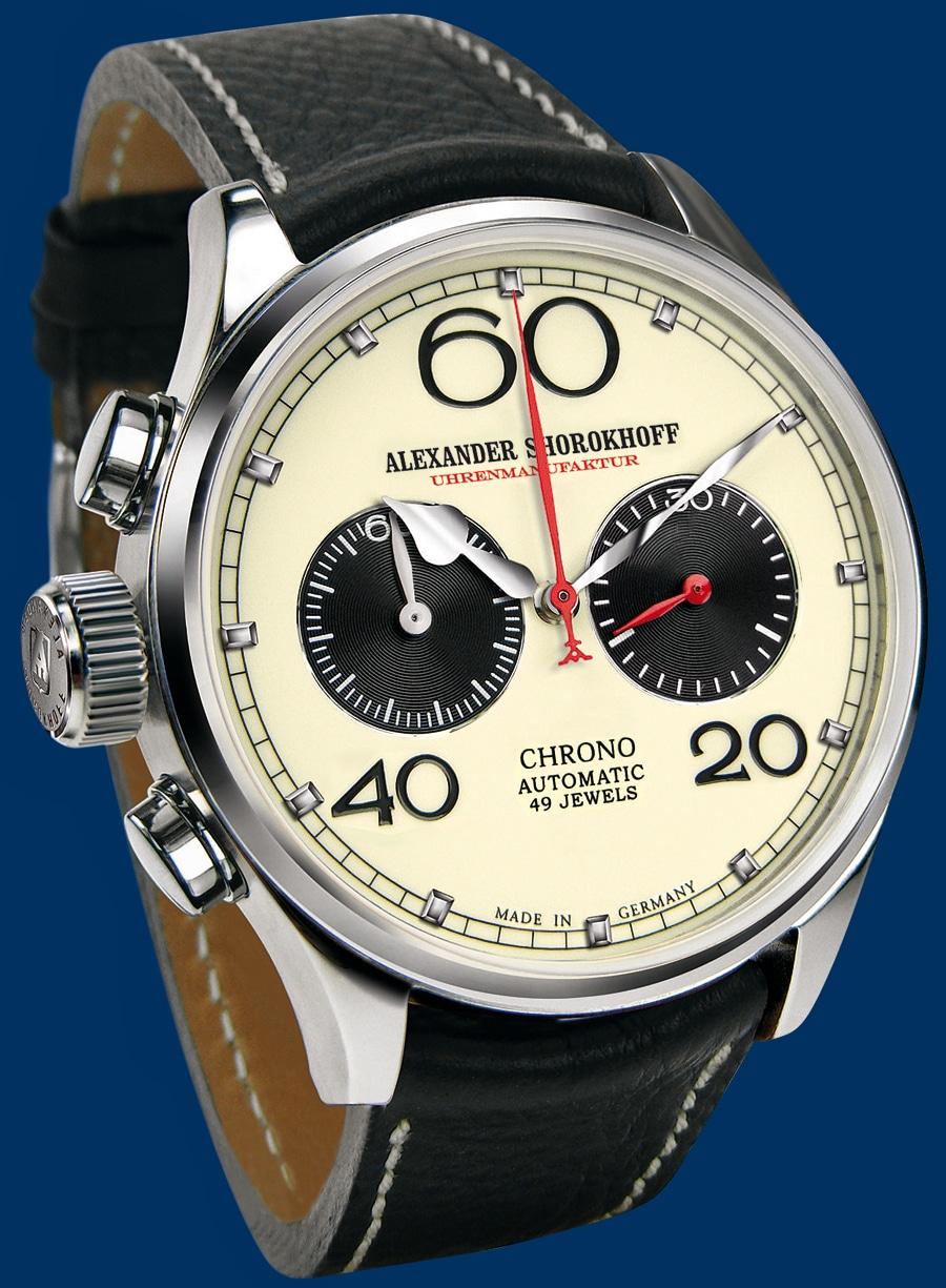 Alexander Shoro-khoff Avantgarde Linkshänder-Uhr (1.799 Euro)