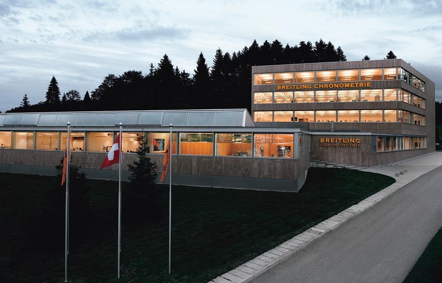Manufakturgebäude: die Breitling-Chronométrie in La Chaux-de-Fonds
