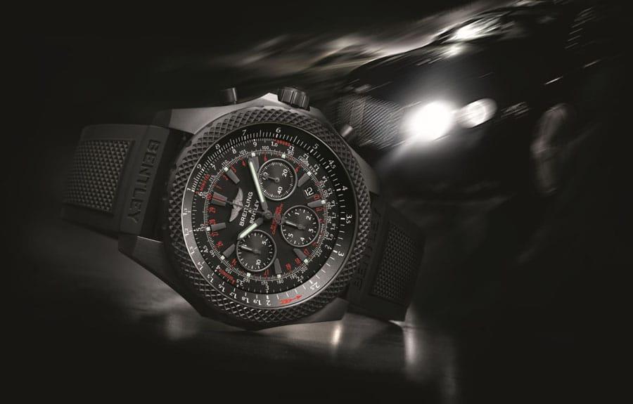 Ganz in Schwarz: die Bentley Light Body Midnight Carbon von Breitling