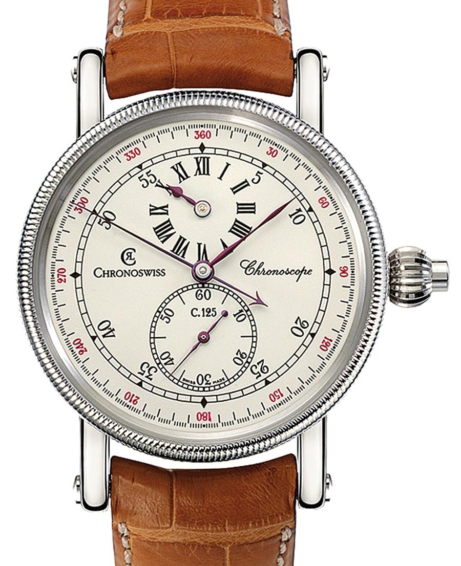 Chronograph mit Regulatorzifferblatt: Chronoswiss Chronoscope (nicht mehr erhältlich)