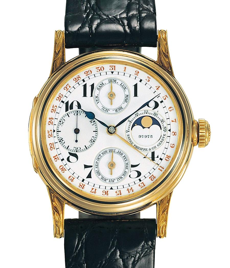 Innovation: Im frühen 20. Jahrhundert bietet Patek Philippe immer mehr Entwicklungen im Bereich der Armbanduhr an. Hier: der erste Ewige Kalender des Hauses für das Handgelenk aus dem Jahr 1925.