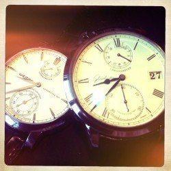 Das Senator Chronometer von Glashütte Original im Vergleich mit der Wempe Chronometerwerke in Edelstahl.