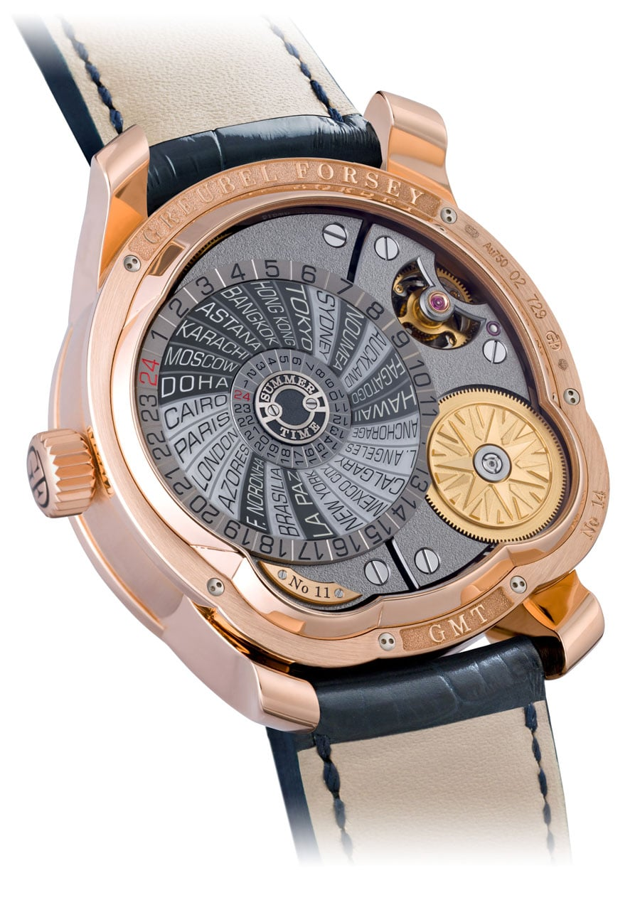 Greubel Forsey GMT Rotgold back