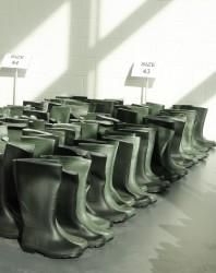 Der Ort der BIlanzpressekonferenz der Swatch Group ist noch im Baizustand.