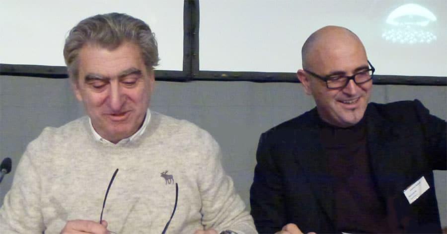 Nick Hayek und Marc A. Hayek bei der Pressekonferenz zum Geschäftsbericht 2012