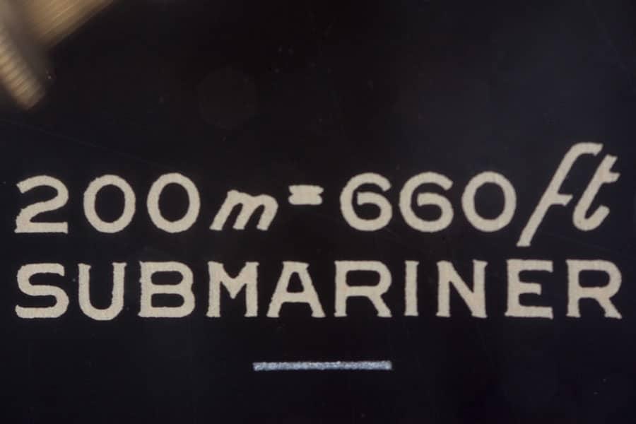 Rolex Submariner Referenz 5513 Detail