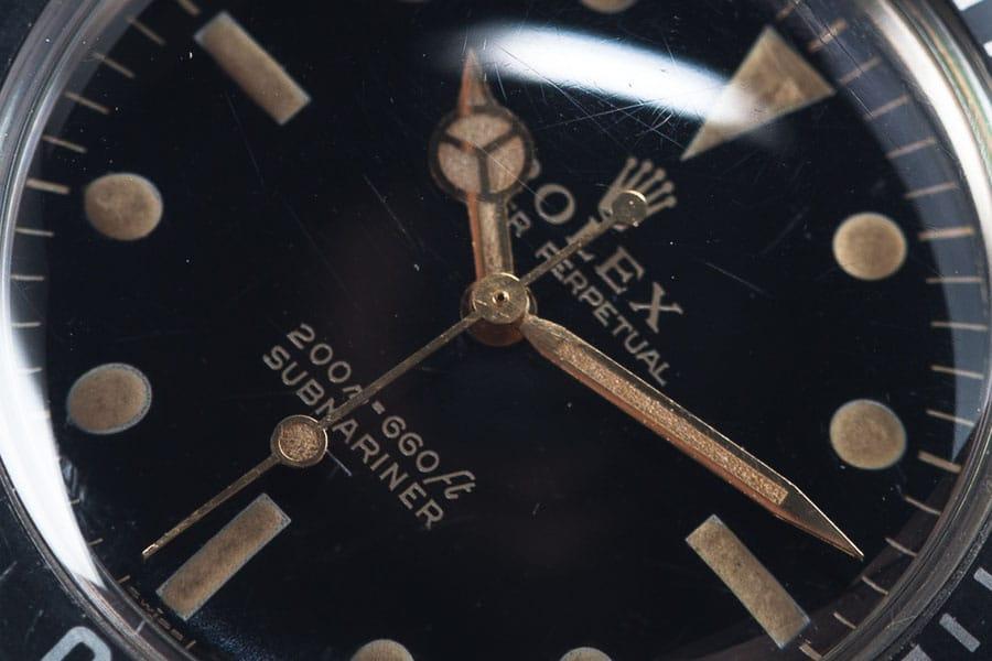 Rolex Submariner Referenz 5513 Zifferblatt