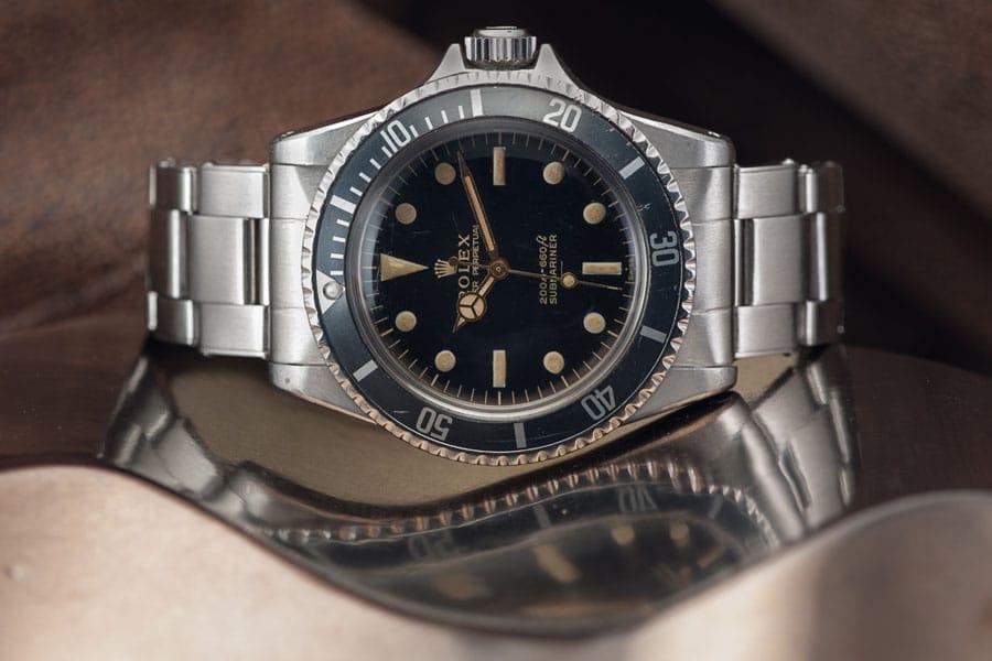 Rolex Submariner Referenz 5513 seitlich