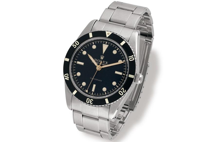 1953: Submariner Referenz 6204. Eine ähnliche Uhr kostete 2009 bei Antiquorum 30.000 CHF