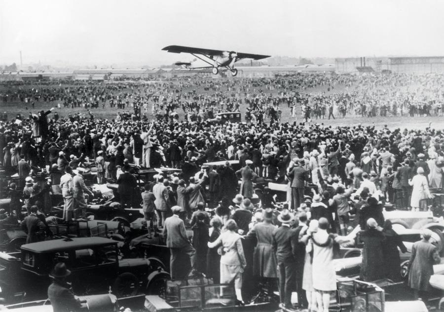 29. Mai 1927: Charles Lindbergh landet nach seinem Rekordflug über den Atlantik in Croydon/London