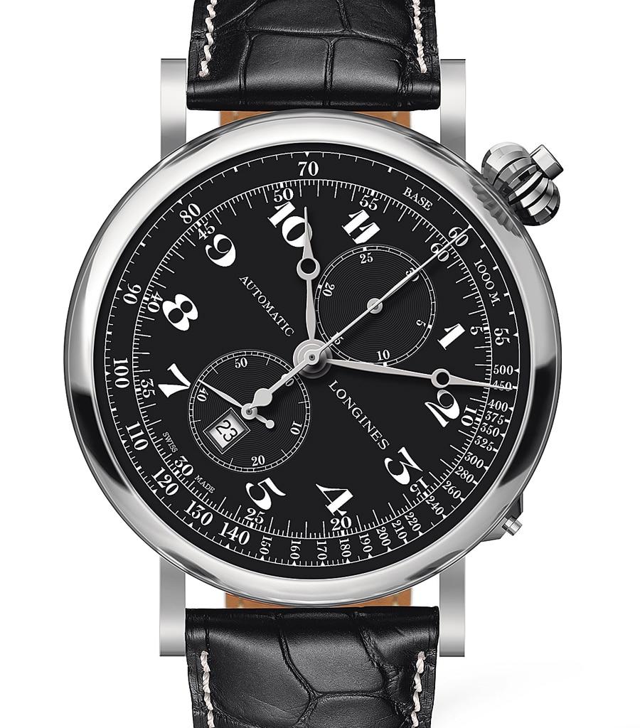 Die neue Longines Avigation Watch Type A-7 orientiert sich am historischen Vorbild und verfügt zusätzlich über eine Datumsanzeige