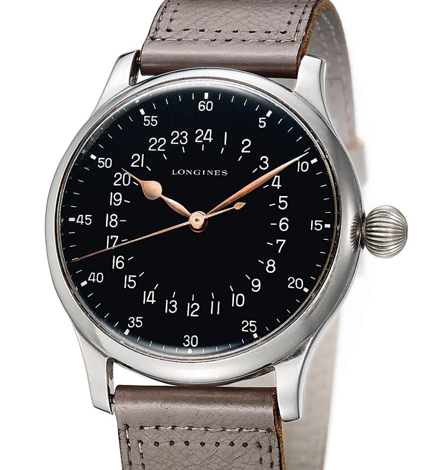 Swissair- Navigator Harry Hofmann trug diese Uhr mit 24-Stunden- Anzeige bis 1974