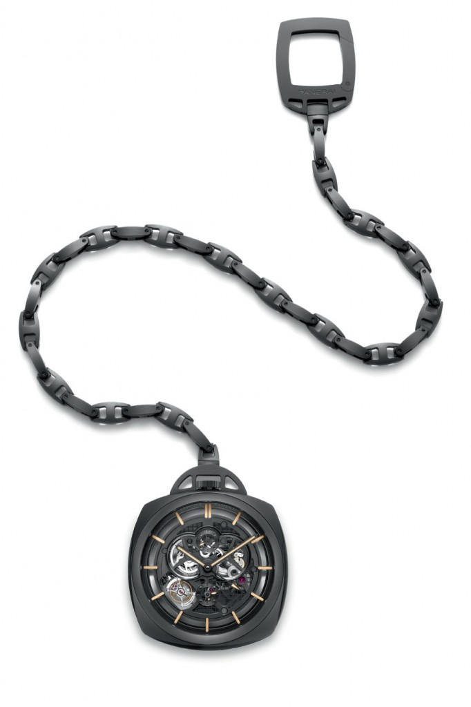 Die Pocket Watch Tourbillon GMT Ceramica von Panerai