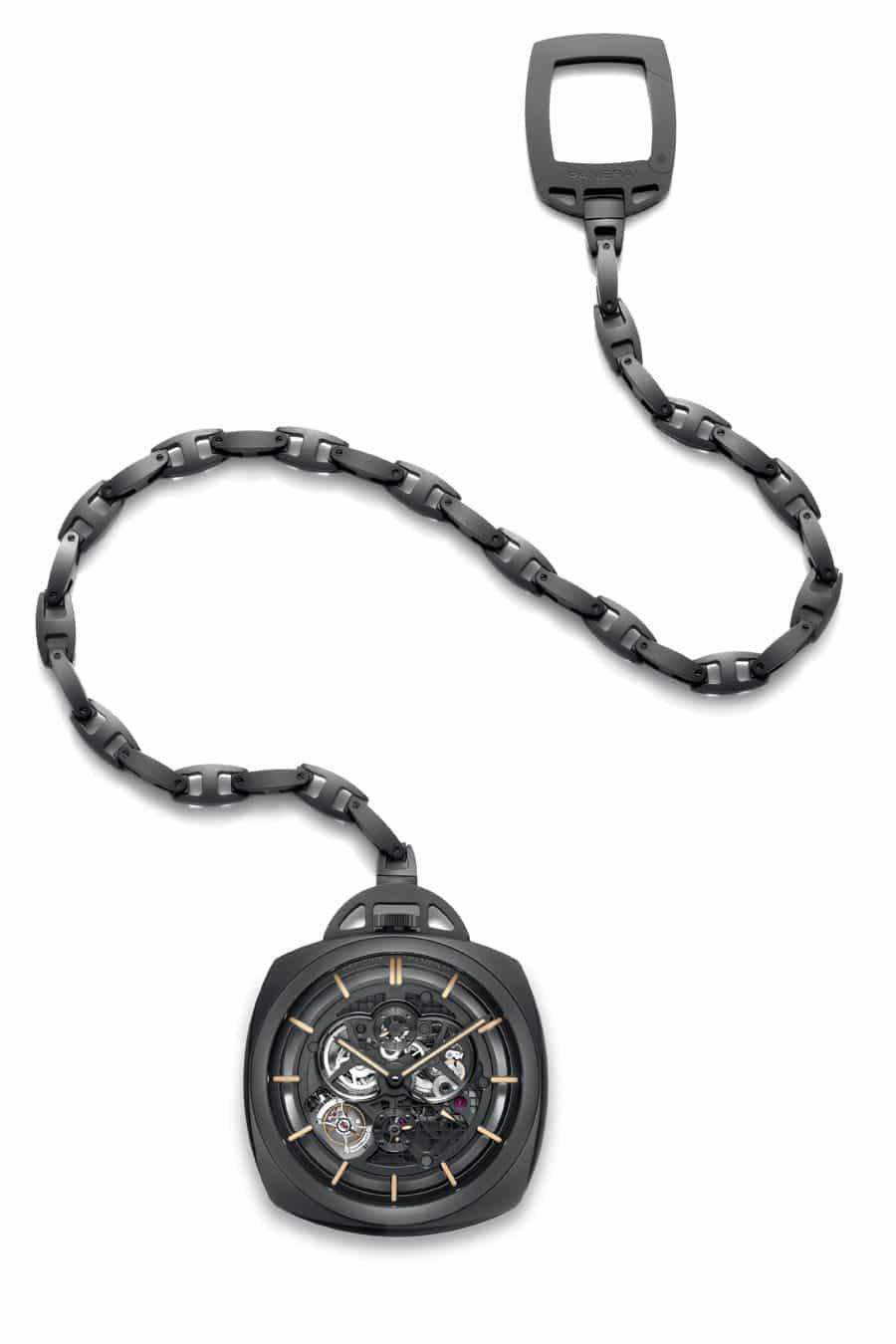 Die Pocket Watch Tourbillon GMT Ceramica von Panerai