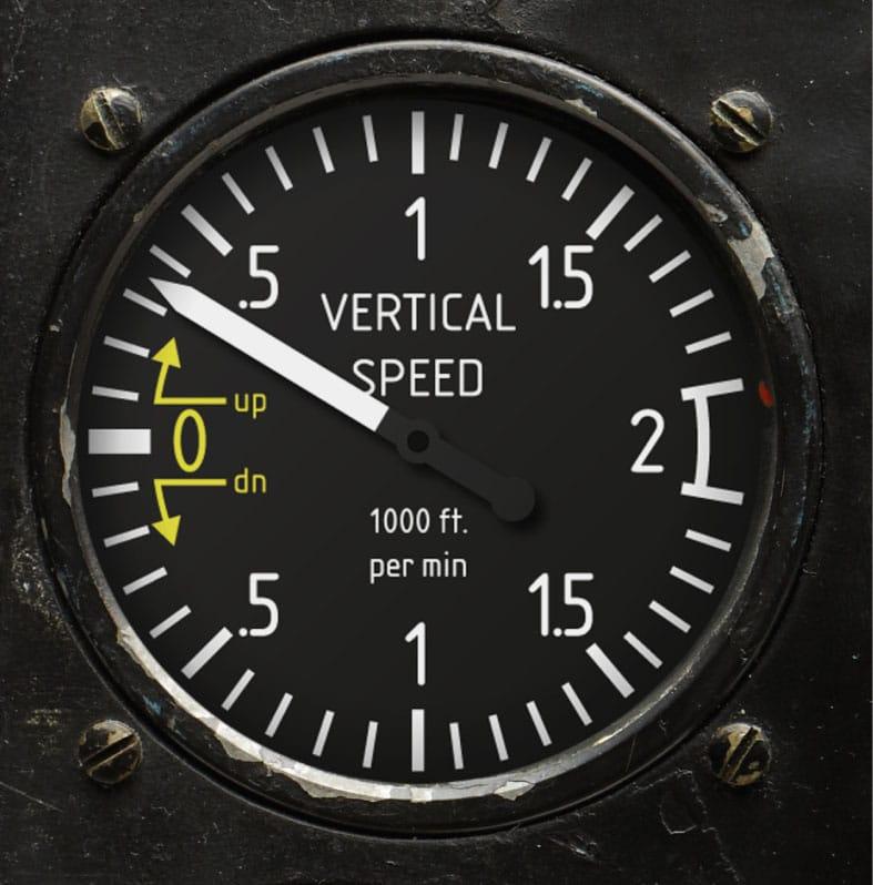 Die BR 01-92 Climb, ist inspiriert vom Variometer oder Steigmesser, der dem Piloten anzeigt, ob sich sein Flugzeug im Steig-, Sink- oder Horizontalflug befindet