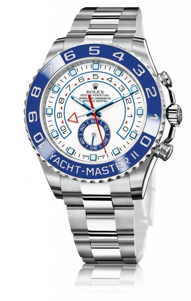 Den Regattachronographen Yacht-Master II von Rolex gibt es jetzt in Stahl
