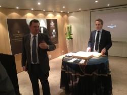 Bei der Präsentation in Basel: Patek-Philippe-Präsident Thierry Stern und Deutschland-Chef Yannick Michot