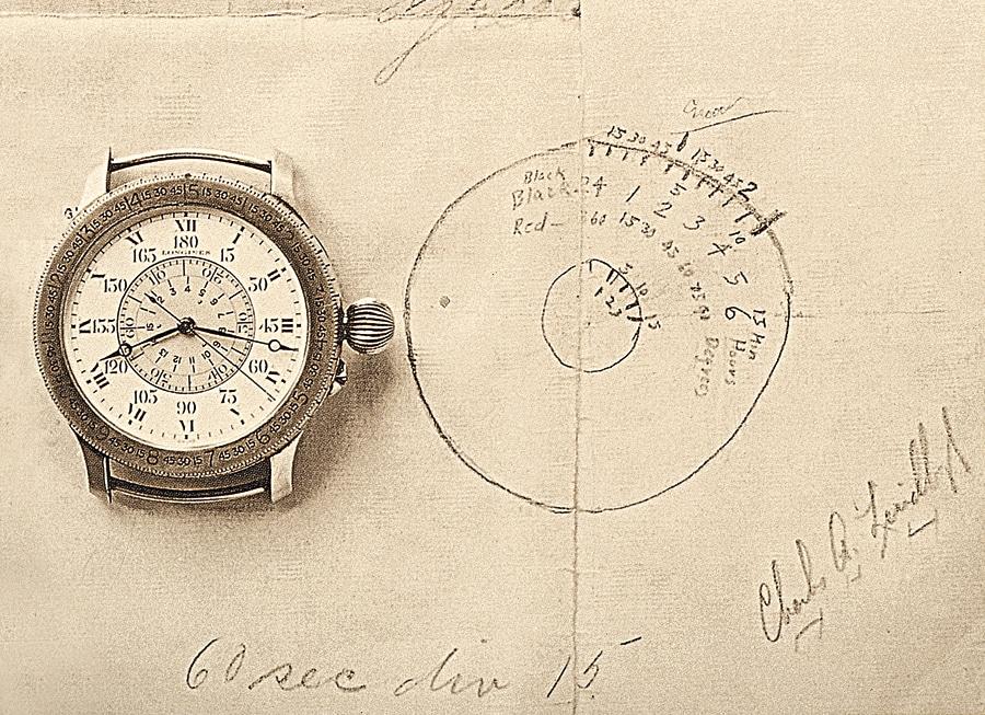 Die Stundenwinkeluhr beruhte auf der Idee und der Zeichnung von Charles A. Lindbergh