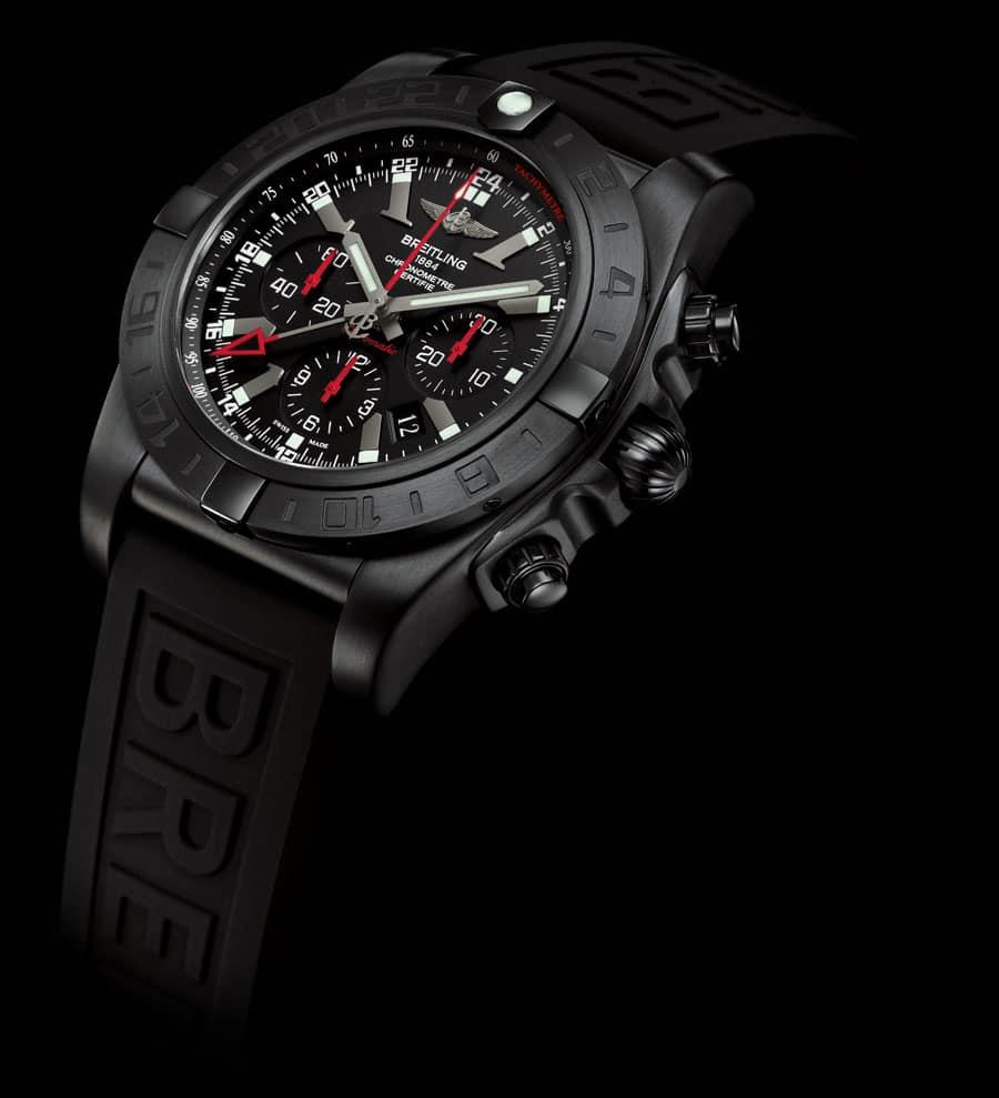 Sportlicher Flieger: Chronomat GMT Blacksteel von Breitling
