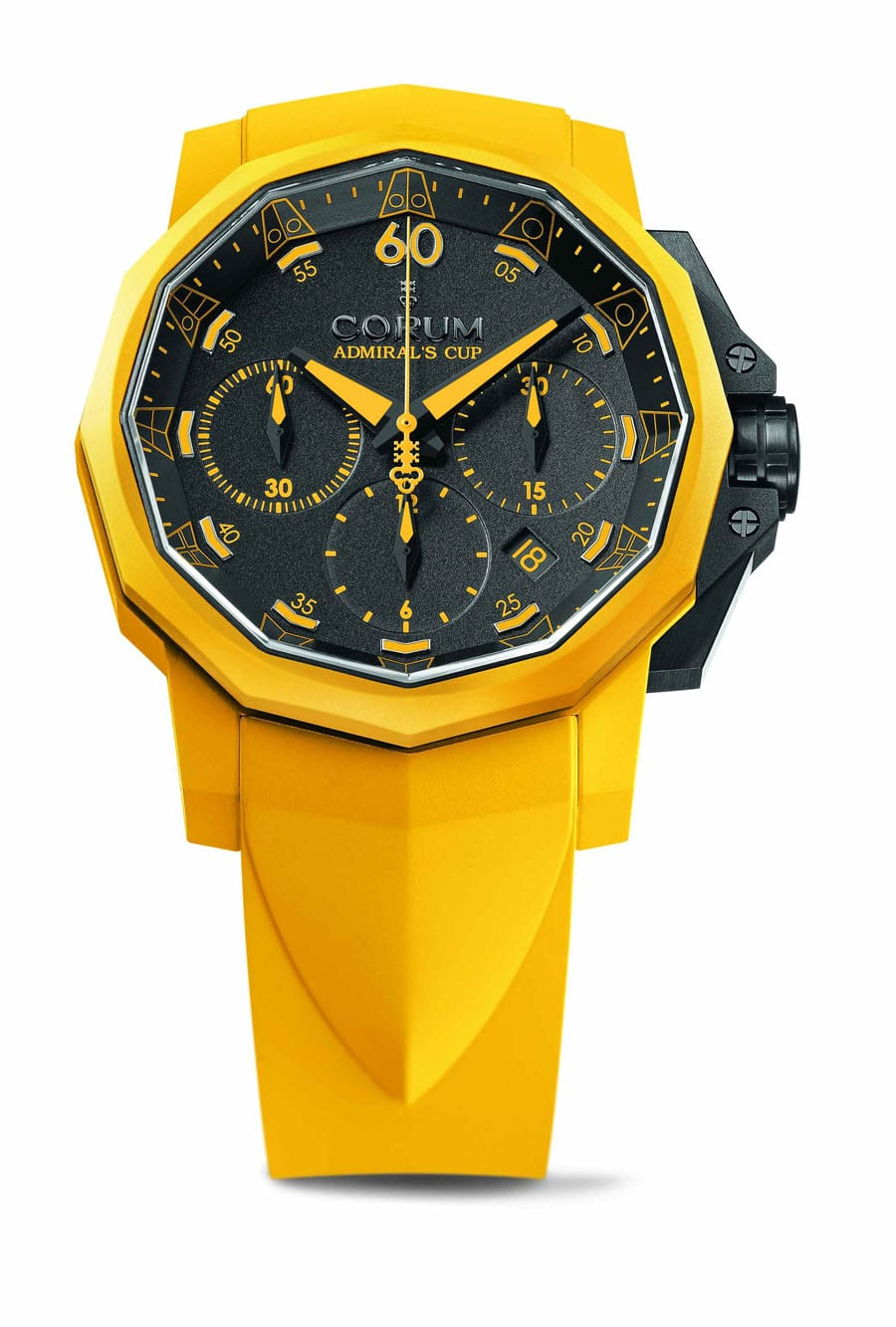 Admiral's Cup Challenger 44 Chrono Rubber in gelb