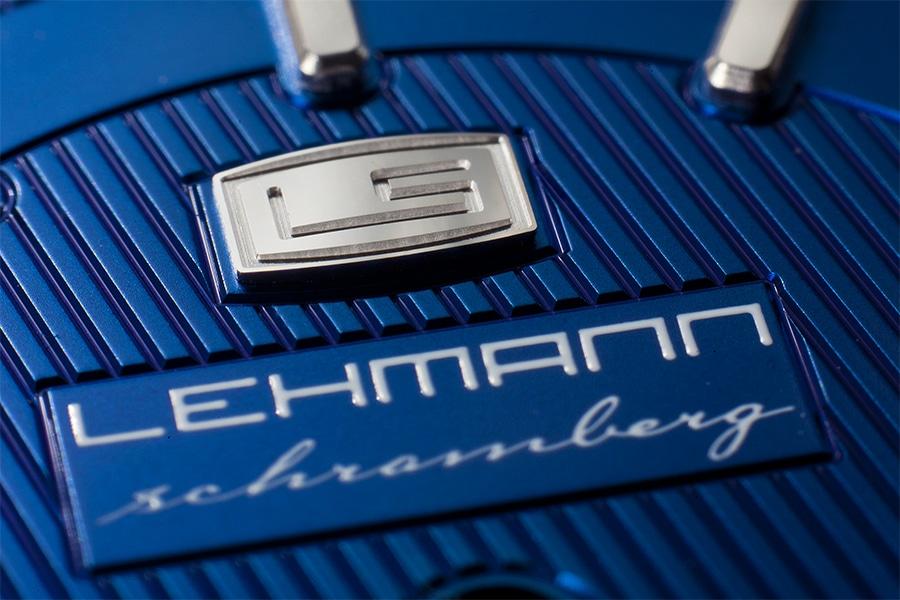 Blaues Zifferblatt Detail