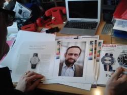 Ein Blick auf den Schreibtisch des Chefredakteurs