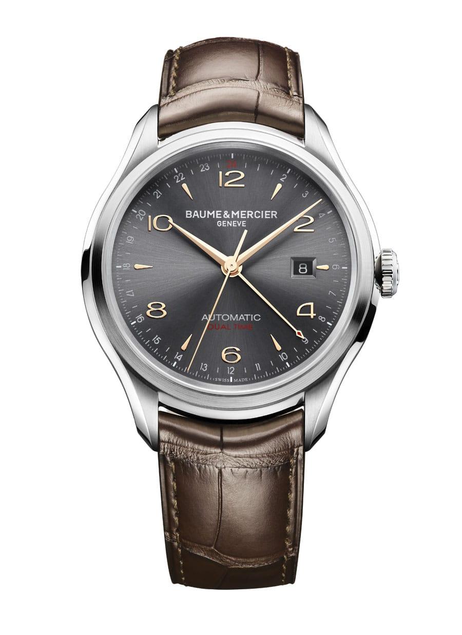 Clifton GMT 10059 Zwei Zeitzonen, Automatikwerk, 43 mm, Saphirglasboden