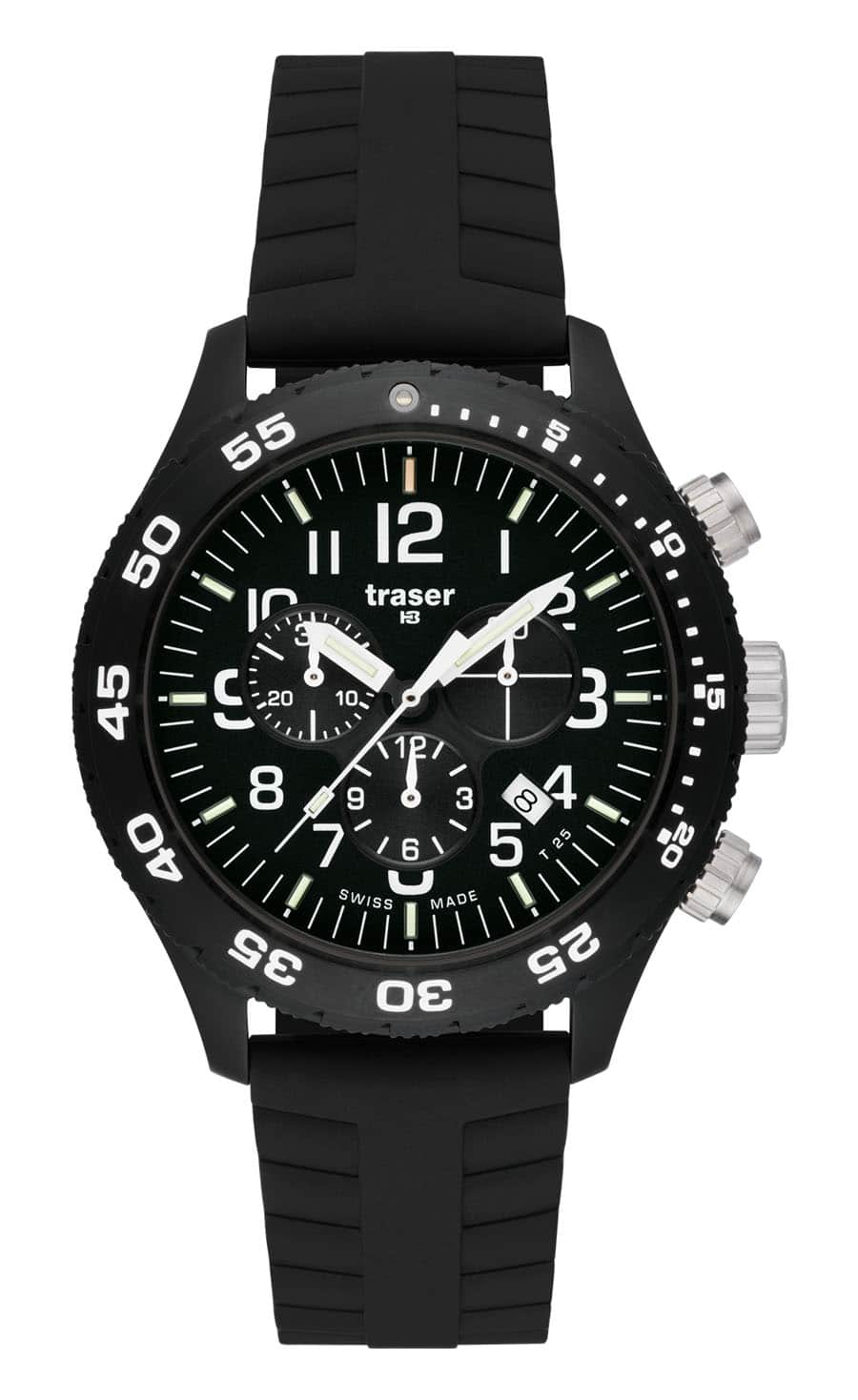 traser® H3 Officer Chronograph Pro mit Silikonband