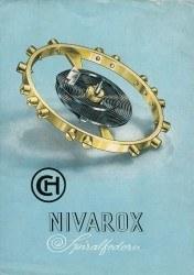 Historisches Werbeplakat von Nivarox 1932