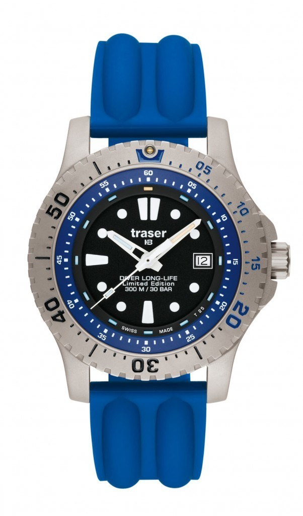 traser® H3 Diver Long-Life Blue Limited Edition mit Silikonband