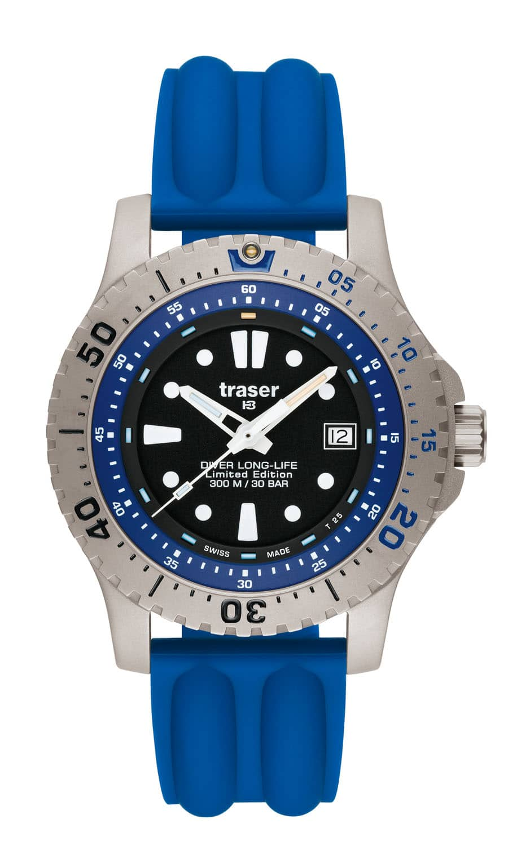 traser® H3 Diver Long-Life Blue Limited Edition mit Silikonband