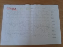 Der Heftplan für Heft 6