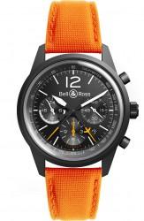 Bell & Ross: BR 126 Blackbird mit orangefarbenem Armband